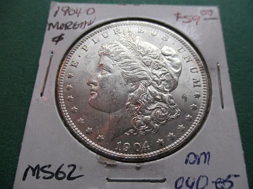 1904-O  MS62 Morgan Dollar.  item: DM 04O-05.