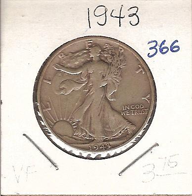 1943 Walking Liberty Half