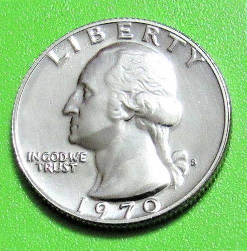1970-S 25 Cents - Washington Quarter - Uncirculated - Cameo Proof