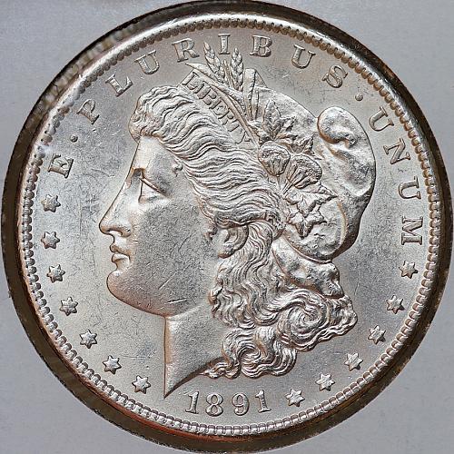 1891 S Morgan Silver Dollar - Gem BU / MS / UNC