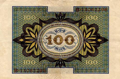 1920 GERMAN 0NE HUNDRED MARK REICHSBANKNOTE
