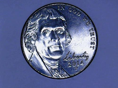 2014 P Jefferson Nickel    See Pictures