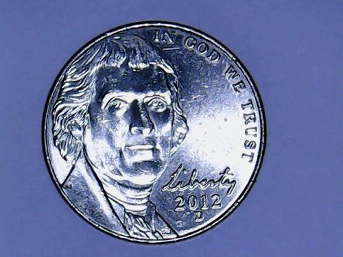 2012 D Jefferson Nickel    See Pictures