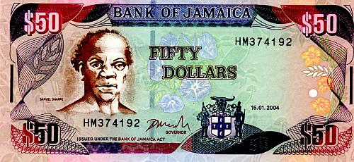 2004 BANK OF JAMAICA  FIFTY DOLLARS
