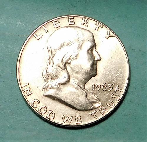 1963 D FRANKLIN / LIBERTY BELL HALF DOLLAR