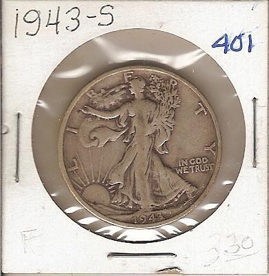 1943-S Walking Liberty Half