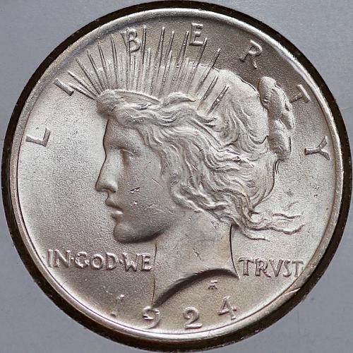 1924 P Peace Silver Dollar - Gem BU / MS / UNC
