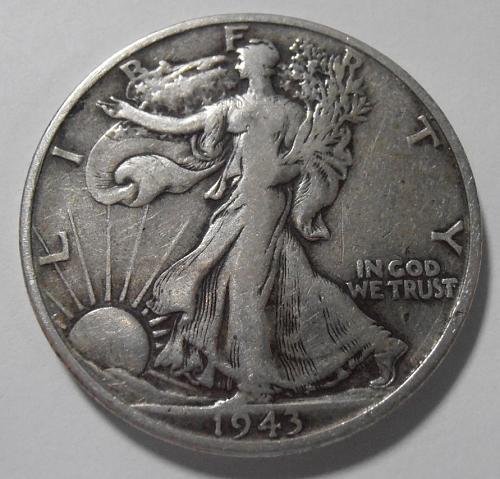 1943 S Walking Liberty Half Dollar (43SAC4)