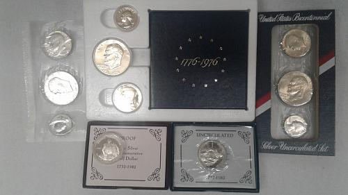 BiCentinial Silver Proof & Uncs/Washington Commeritive Proof & Unc