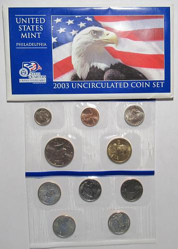 2003 PD Uncirculated Mint Set in good condition