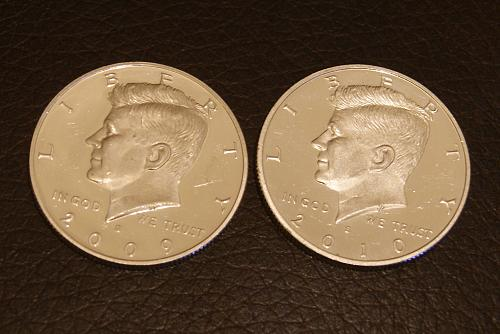 2009 S and 2010 S JFK Silver Proofs
