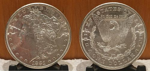 1881-S MORGAN DOLLAR UNCIRCULATED SILVER New Uncirculated fresh out the roll!
