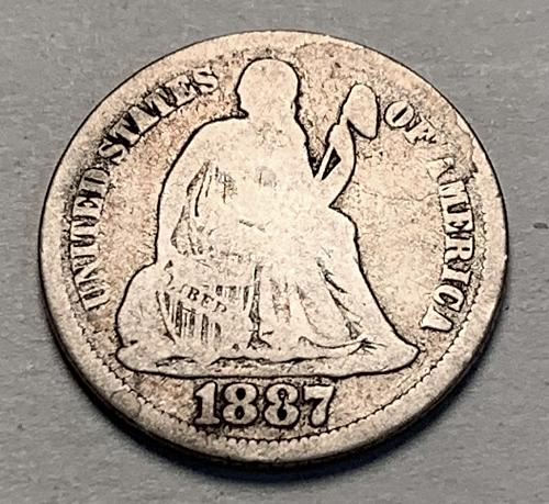 1887 Seated Liberty Dime [BMRD 183]