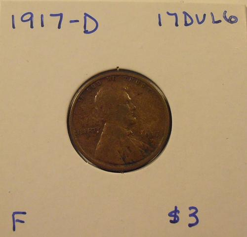 1917 D Lincoln Cent  (17DUL6)