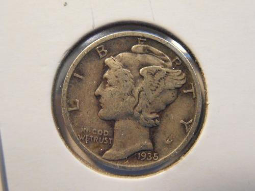 1935 P Mercury Silver Dime (35P10)