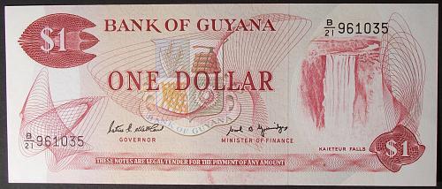 Guyana P21f Dollar UNC63