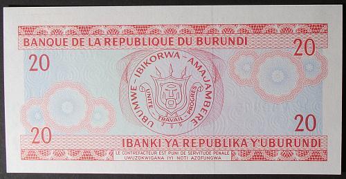 Burundi P27c 20 Francs UNC63