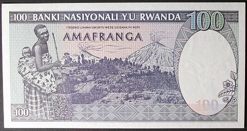Rwanda P18a 100 Francs UNC65