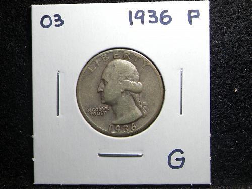 1936 P Washington Quarter