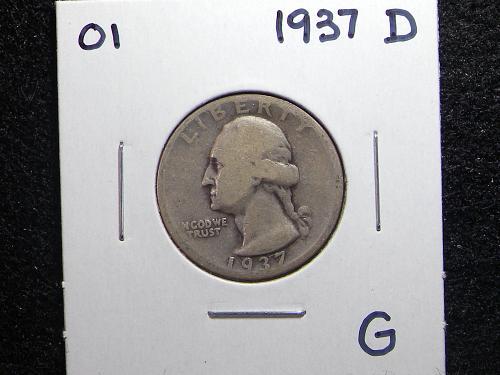 1937 D Washington Quarter