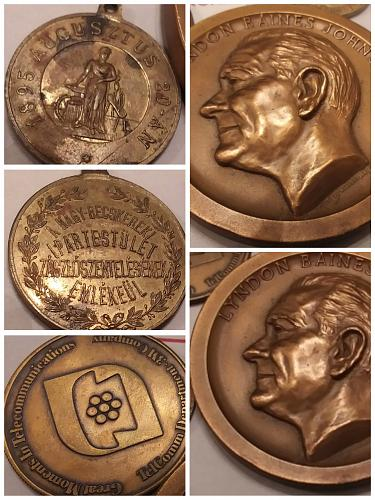 1965 President Lyndon B.Johnson Inauguration Medal & 4 other Medals