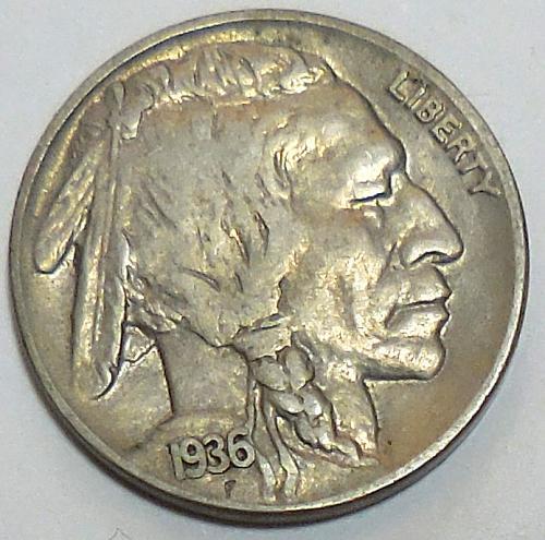 1936-P Buffalo Nickel