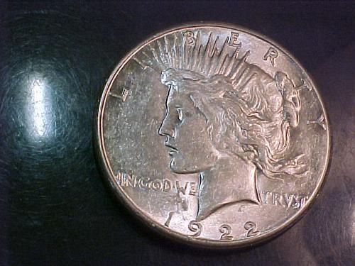 1922 S PEACE DOLLAR    ab09