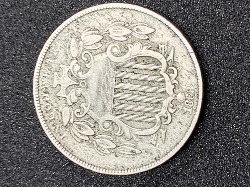 1868 Nickel Shield