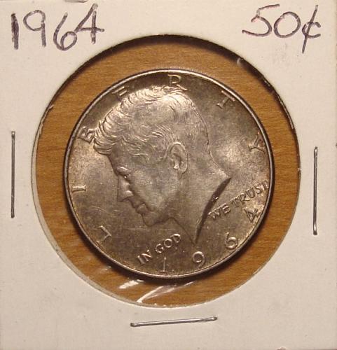 1964P Kennedy Half Dollar 90% Silver