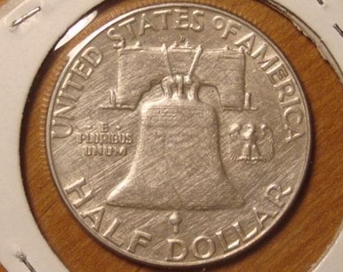 1963 D Franklin Half Dollar 90% Silver