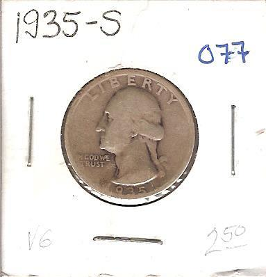 1935-S Washington Quarter
