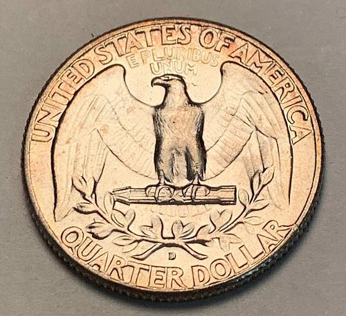1964-D Silver Washington Quarter UNC [BSWQ 333]