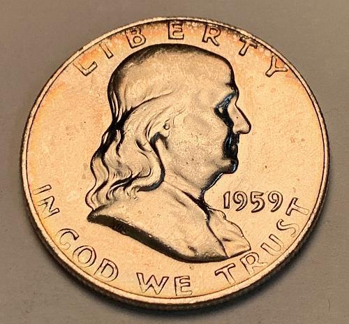 1959-D Franklin Half Dollar AU50 [FH 63]