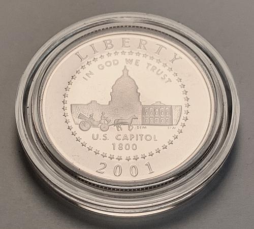 2001 Proof Cameo Capitol Visitor Center Commemorative Half Dollar [COM 19]