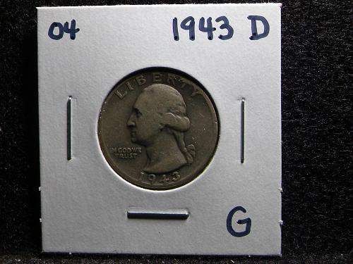 1943 D Washington Quarter