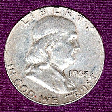1963 D Franklin Half Dollars -#3