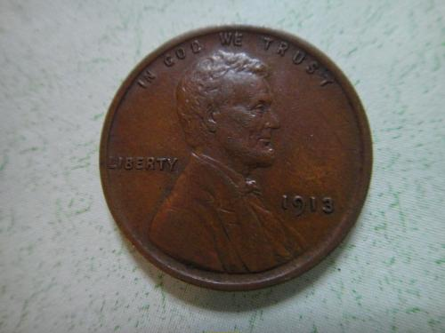 1913 Lincoln Cent Extra Fine-45 Nice Defintion on Wheat Stalks!