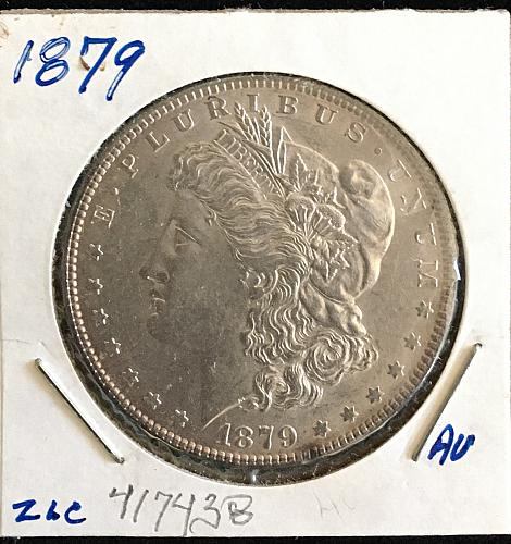 1879 Morgan Silver Dollar some toning/never cleaned
