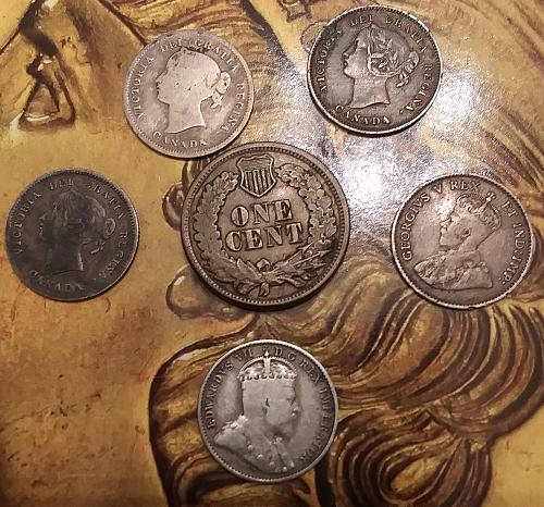 U.S.A. 🇺🇸 Canada 🇨🇦 6 Pc. Coin Mix 1863-1911
