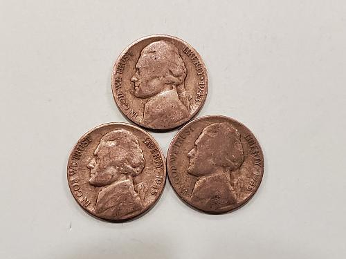 3 War Nickels