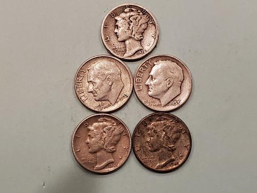 5 Silver Dimes