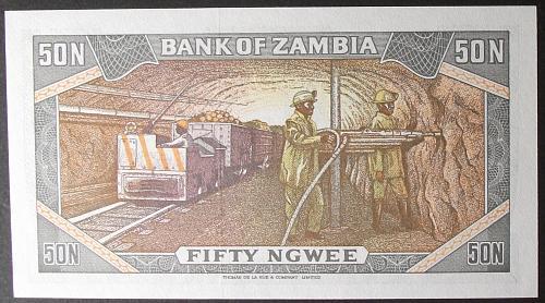Zambia P14a 50 Ngwee UNC63