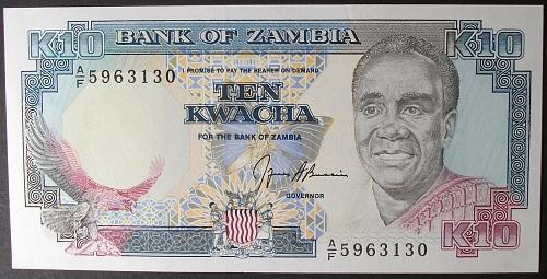 Zambia P31b 10 Kwacha UNC64