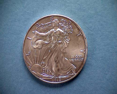 2013 W  AMERICAN SILVER EAGLE BULLION COIN