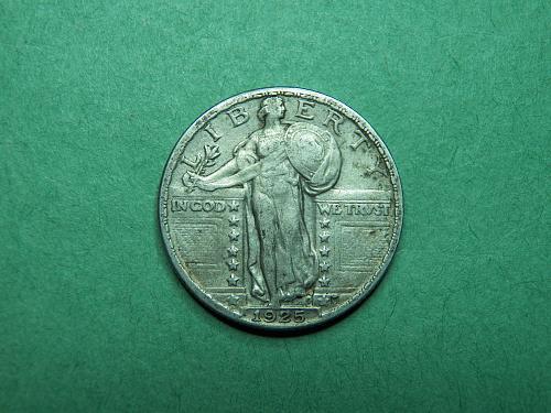 1925 P Standing Liberty Quarter Extra Fine Coin   x05