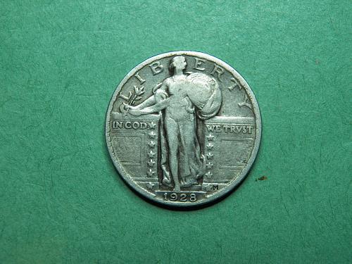 1928 P Standing Liberty Quarter Very Fine Coin   x08