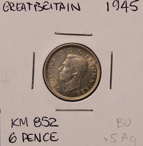 Great Britain 1945 6 pence
