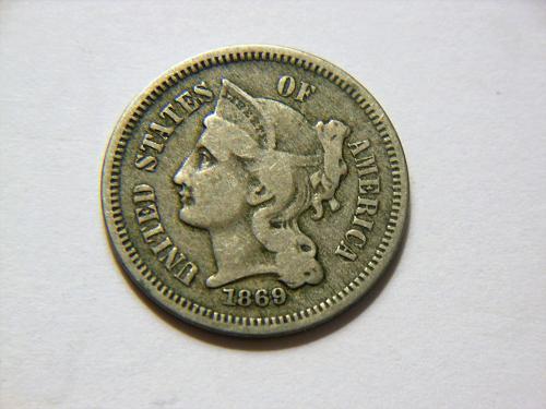 1869 3 Cent Nickel