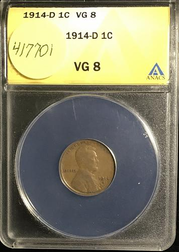 1914 D Lincoln Cent One of the key dates needed for this set