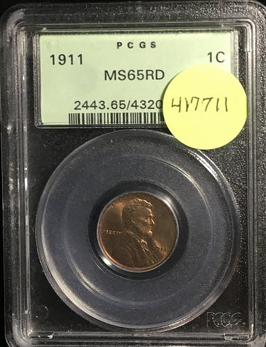 1911 LINCOLN CENT MS65RD